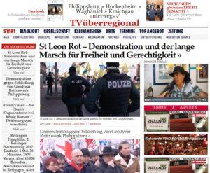 St Leon Rot – Demonstration und der lange Marsch für Freiheit und Gerechtigkeit
