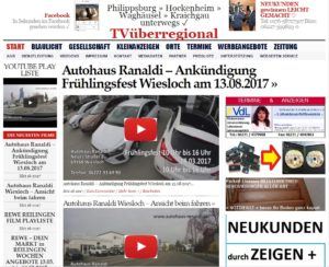 Autohaus Ranaldi - Ankündigung Frühlingsfest Wiesloch am 13.03.2017