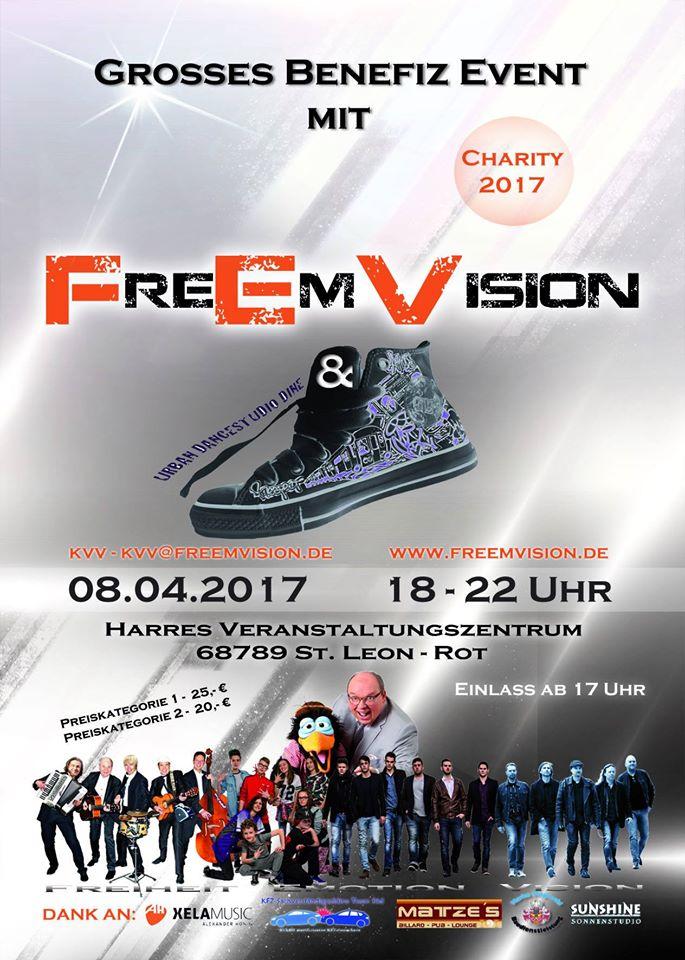 Im Harres in St. Leon am 08.04.2017 Benefiz Event mit FreEmVision und Urban Dancestudio Dine