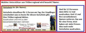 Neukunden gewinnen durch TVüberregional Reilingen Hockenheim Wiesloch Kraichgau Karlsruhe Bruchsal