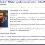 Wiesloch: 27-Jähriger spurlos verschwunden – Polizei bittet um Mithilfe