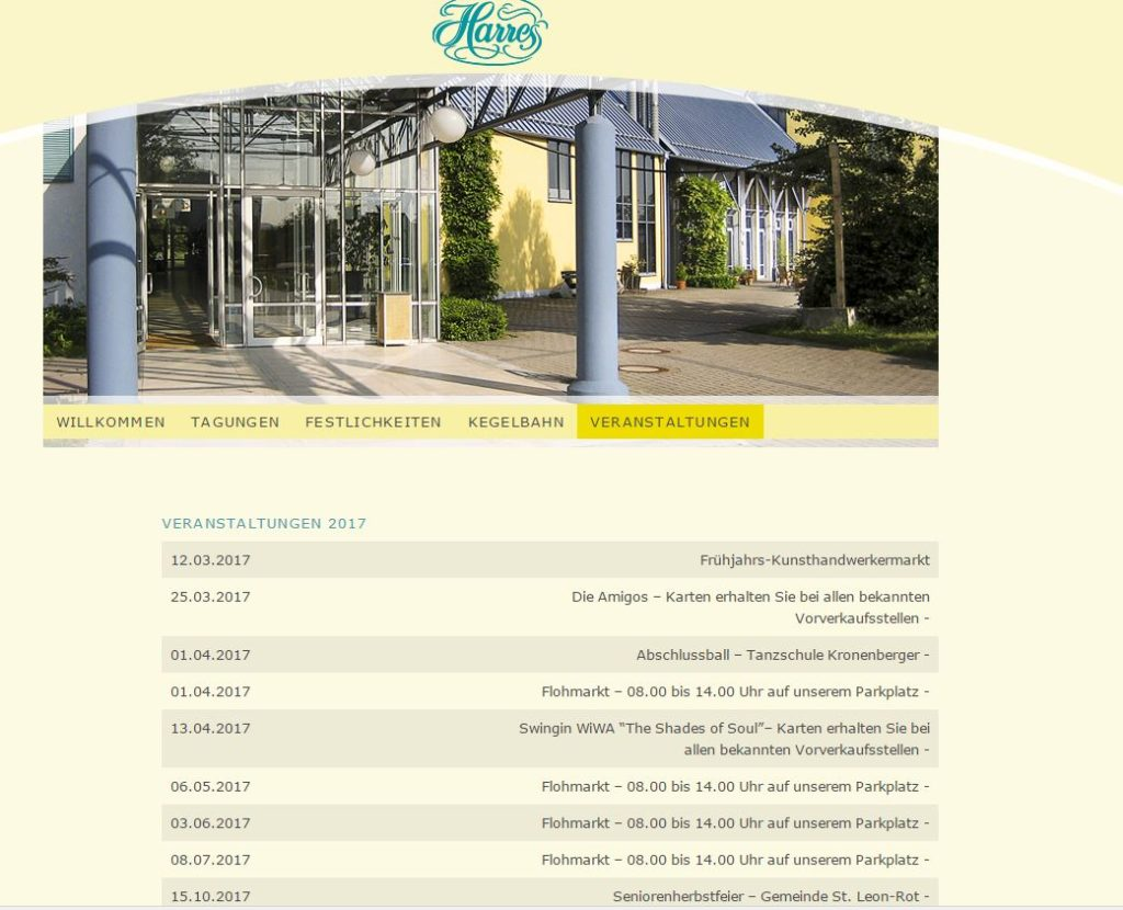 Veranstaltungen Termine Harres Tagungs- und Kulturzentrum An der Autobahn 60, 68789 St. Leon-Rot
