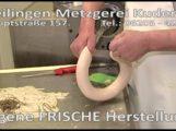 REILINGEN: TVüberregional begleitet 26 Minuten den Metzgermeister in der Produktionsabteilung bei Metzgerei Kuderer