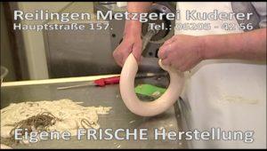 REILINGEN: TVüberregional begleitet den Metzgermeister 4 Minuten in der Produktionsabteilung bei Metzgerei Kuderer