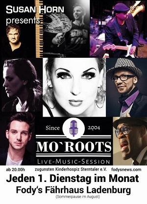 Mo Roots 300 pixel Restaurant Ladenburg Fodys Fährhaus jeder ersten Dienstag im Monat Livemusik