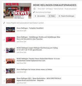 REWE Reilingen Film Playliste TVüberregional