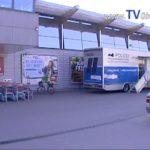 SCHUTZ VOR EINBRECHER – Landeskriminalamt in REILINGEN vor REWE mit POLIZEI TRUCK. TVüberregional BERICHTERSTATTUNG