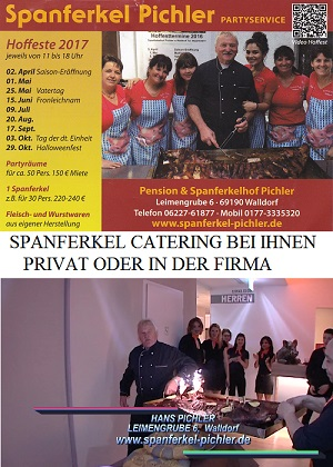 Spanferkelhof Pichler - Spanferkel Walldorf Catering Walldorf 2017 - 500px CATERING Hoffest Termine Familen veranstaltung Kinderparadies