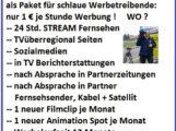 Jahreswerbung Onlinefernsehen Onlinezeitung Sozialmedien TVüberregional