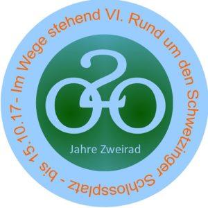 SCHWETZINGEN: IM WEGE STEHEND VI - 2017 – Zweihundert Jahre Zweirad - outdoor 29.4. bis 15.10.17 rund um den Schlossplatz