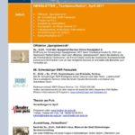"SCHWETZINGEN: NEWSLETTER "" Tourismus/Kultur"" April 2017"