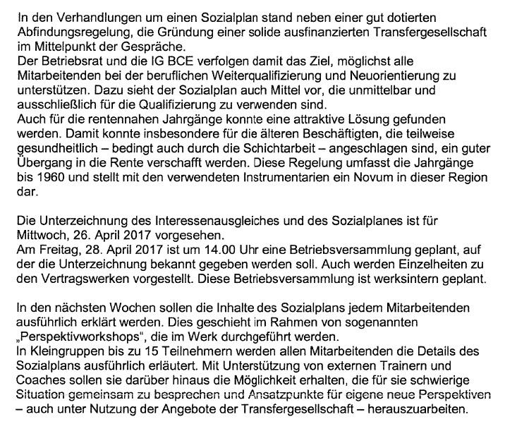 Philippsburg - Werkschließung Reifenwerk Goodyear Dunlop Tieres Germany GmbH