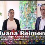 St.Leon-Rot im Rathaus: Bürgermeister Dr Eger und Bilderausstellung von Künstlerin Juana Reimers