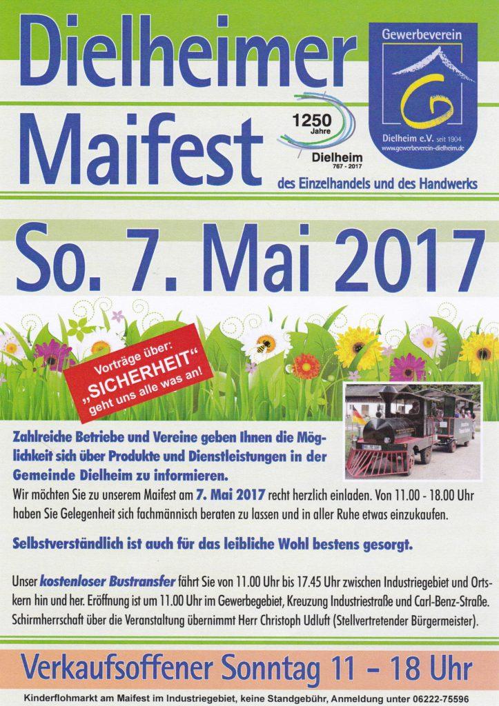 Dielheim: Gewerbeschau Ankündigung zum 07 Mai 2017 – Bericht von TVüberregional