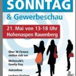 RAUENBERG: Verkaufsoffener Sonntag mit Gewerbeschau – im Industriegebiet Hohenaspen – 21.05.2017 von 13:00 bis 18:00 Uhr mit TV Bericht von 2015