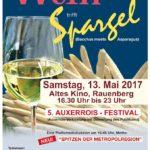 RAUENBERG: Wein & Spargel 2017 im Alten Kino in Rauenberg – Samstag 13.05.2017 ab 16.30 Uhr bis 23 Uhr