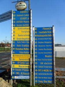 Reilingen Baustelle Firmen Hinweis Schilder Reilingen-Lokal