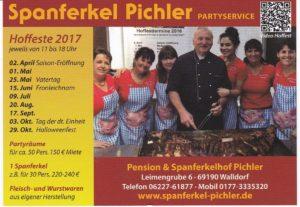 20.08.2017 - Walldorf - Reilingen - Hockenheim: PICHLER Spanferkel Hoffest in Walldorf, Leimengrube 6