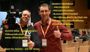 Doell video tv Kameramann Videoproduzent - Marco Friedrich Fotograf Pressemeier
