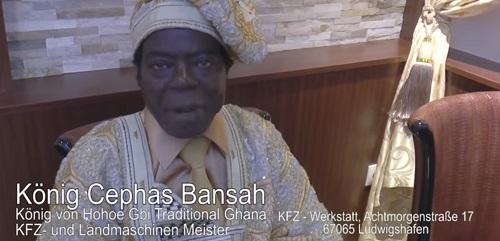König Cephas Bansah - im ASIA Paradies Mannheim - TVüberregional Oliver Döll - Mannheimvideo 500 px