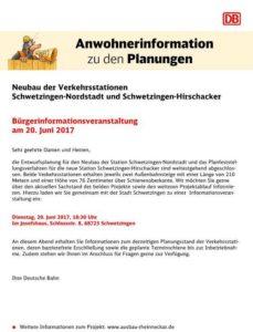 SCHWETZINGEN Neubau der Verkehrsstationen Schwetzingen-Nordstadt und Schwetzingen-Hirschacker