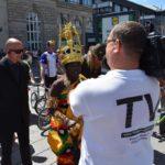 TV Filmbeitrag Mannheim: World-Klapp Monnem – 11. Juni 200 Jahre Klapprad Schirmherr ist König Cephas Bansah – von TVüberregional und weitere Kamerateams gefilmt worden