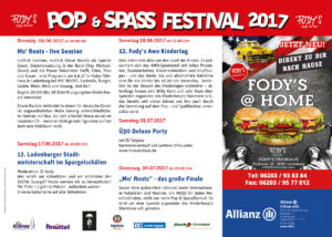 Pop und Spass Festival Ladenburg 2017