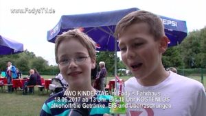 AWO Kindertag Ankündigung zum 18.06.2017 bei Restaurant Fodys Ladenburg