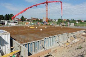 Reilingen: Rohbauarbeiten für den kommunalen KiTa-Neubau im Plansoll