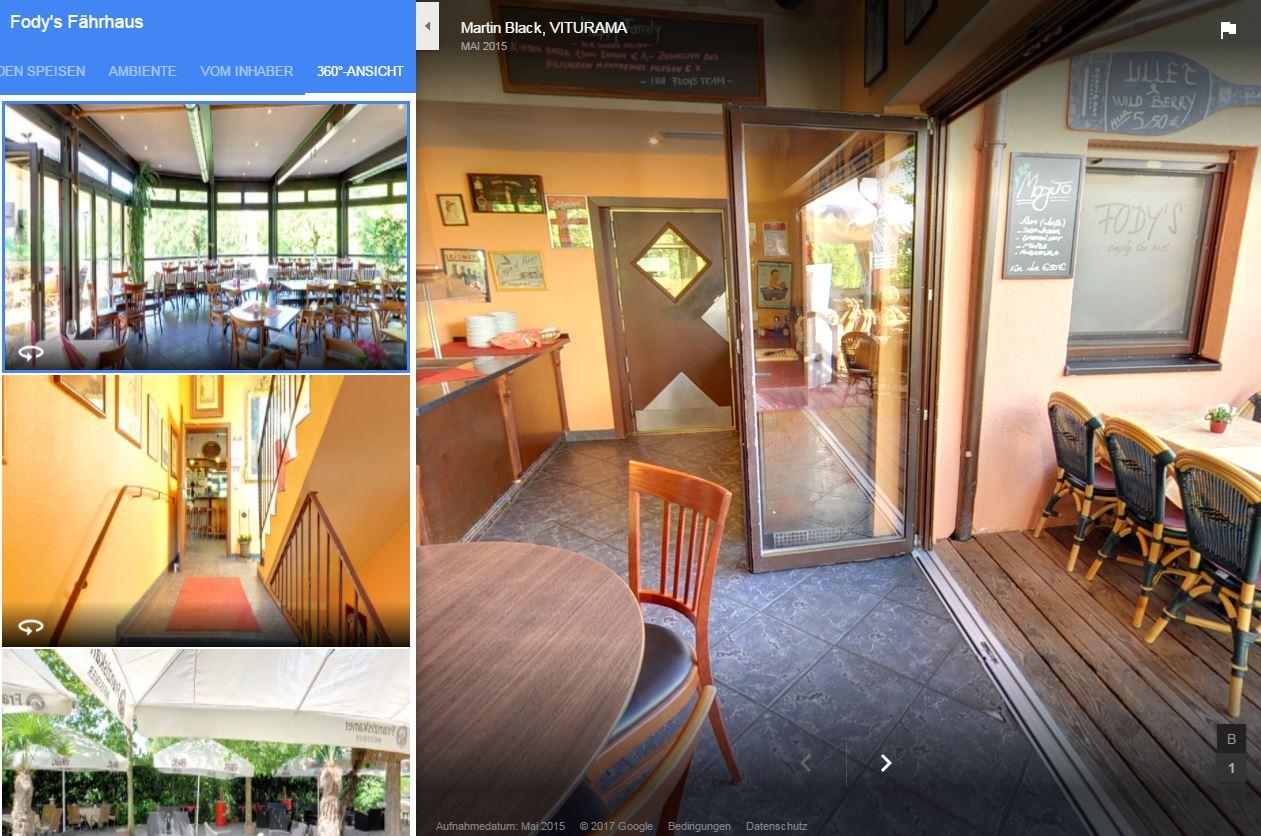 Restaurant Ladenburg Dossenheim Schriesheim Mannheim 360 crad Besichtigung Rollstuhlfreundlich