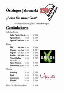 Östringer Jahrmarkt, TSV Baden Östringen Speisekarte, Kraichgau Videoproduktion, TVüberregional, Oliver Döll
