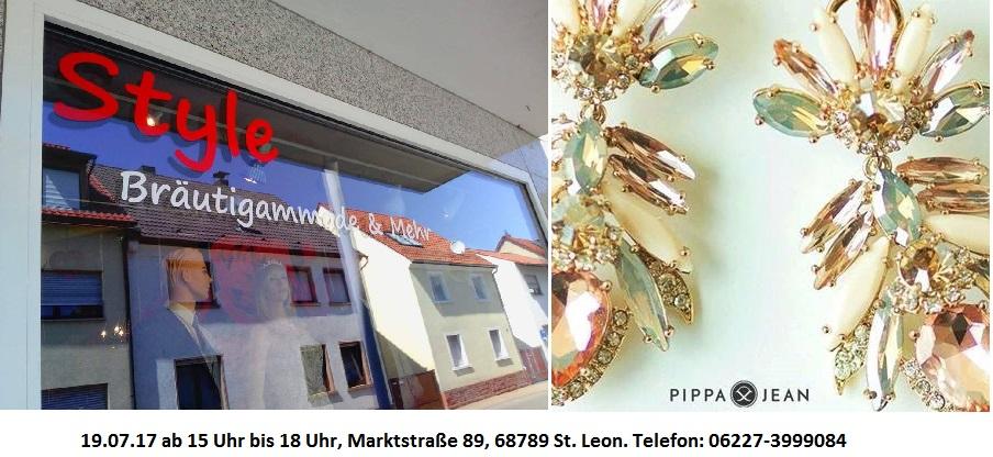 Tag der offenen Tür bei Style Bräutigammode & Mehr am 19.07.17 ab 15 Uhr bis 18 Uhr, 68789 St Leon, Marktstrasse 89, Gastgeber Schmuckfee24 - Pippa&Jean Stylecoach C. Döll