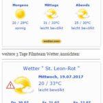 WARNLAGEBERICHT für Deutschland ausgegeben vom Deutschen Wetterdienst am Mittwoch, 19.07.2017, 14:12 Uhr