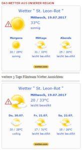 Wetter 19-07-17