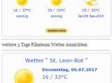 WETTER: bis 34 C ! KREISLAUFGEFAHR