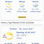 Wetterwarnung – Das Wetter am Samstag am 01.07.2017 WARNLAGEBERICHT für Deutschland ausgegeben vom Deutschen Wetterdienst