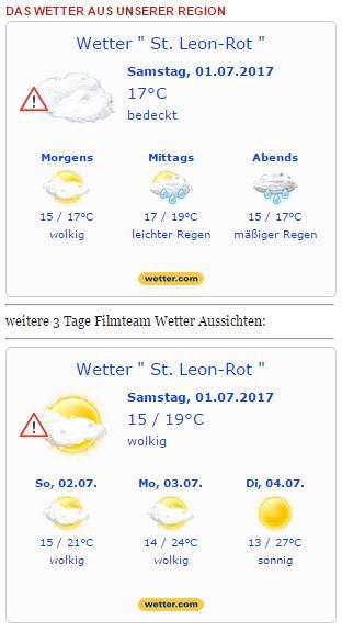 Wetterwarnung - Das Wetter am Samstag am 01.07.2017 WARNLAGEBERICHT für Deutschland ausgegeben vom Deutschen Wetterdienst