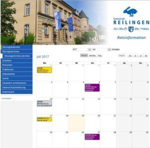 Reilingen: Öffentliche Sitzung des Technischen Ausschusses am 27.07.2017