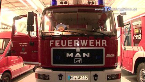 Fahrzeugbrand auf der B 36. Vollsperrung in Richtung Mannheim