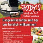 UNANGEMELDETE Busgesellschaften sind im Restaurant Fody´s Fährhaus in Ladenburg herzlich willkommen