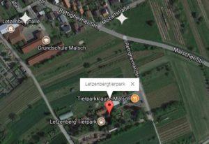 Letzentierpark Malsch Anfahrt Park finden