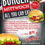 BURGER-MITTWOCH: Restaurant Fodys Fährhaus Ladenburg, Burger Flatrate, ALL YOU CAN EAT