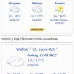 WETTERWARNUNG: WARNLAGEBERICHT für Deutschlandausgegeben vom Deutschen Wetterdienstam Freitag, 11.08.2017, 12:08 Uhr