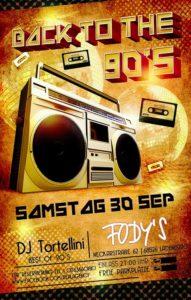 Ladenburg: BEST OF THE 90´s, DJ. TORTELLINI, 30.09; ab 21 Uhr im Fody´s Fährhaus, Fodys Fährhaus Restaurant Ladenburg - Fodys Party - 90 ziger