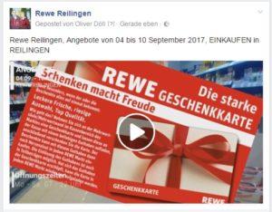 Rewe Reilingen, Angebote von 04 bis 10 September 2017, EINKAUFEN in REILINGEN