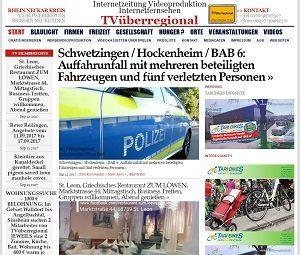 Schwetzingen / Hockenheim / BAB 6: Auffahrunfall mit mehreren beteiligten Fahrzeugen und fünf verletzten Personen