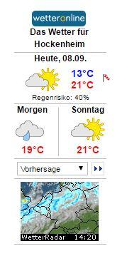 WARNLAGEBERICHT für Deutschlandausgegeben vom Deutschen Wetterdienstam Freitag, 08.09.2017, 11:15 Uhr, Wetter Vorhersage TVüberregional