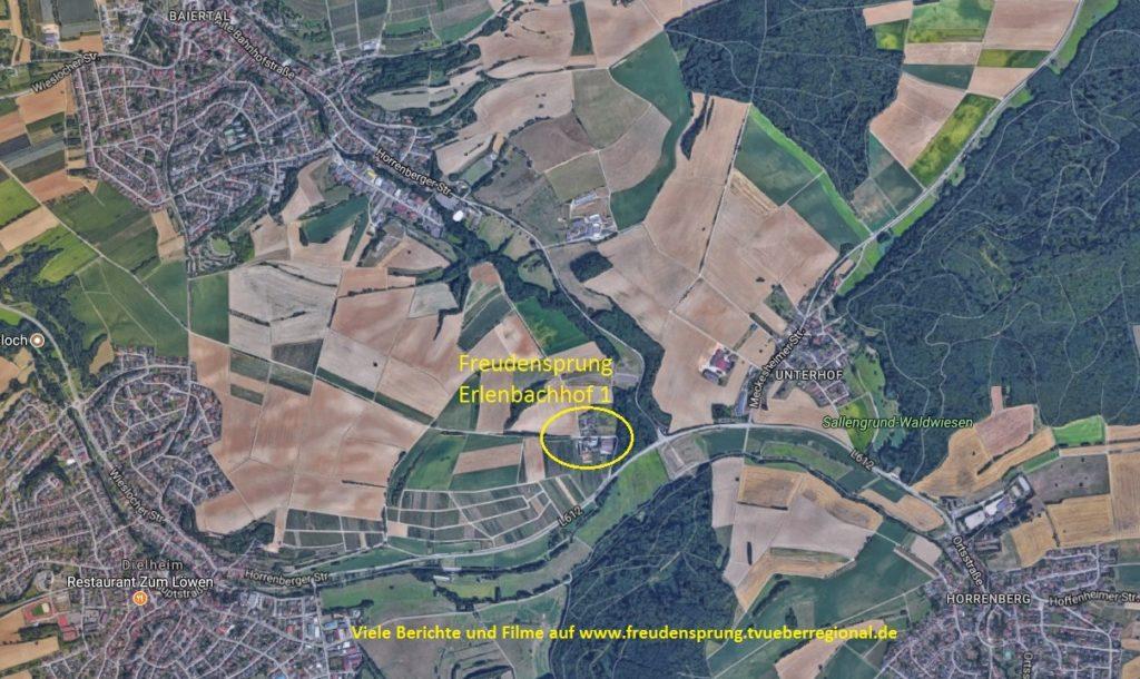 Anfahrt, Wegbeschreibung Freudensprung Hoffest Dielheim, Kraichgau, am 7.10 und 8.10.2017, TVüberregional Kraichgau Lokal, Kraichgau, Einkaufen im Kraichgau,