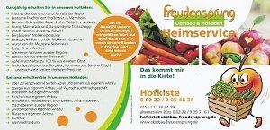 Freudensprung Obstbau Heimlieferservice,Hofladen, Direkterzeuger, Obstbau, Gemüseanbau, Winzer, Landwirt, Freudensprung Erlenbachhof 1 69234 Dielheim