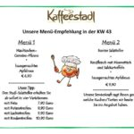 Freudensprung Kaffeestadl Mittagsmenü vom 23.10 bis 29.10. 2017, 11:30 Uhr – 18 Uhr